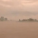 Mysterious ghost city floating in sky above China