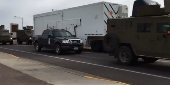 Military processing protecting important military cargo