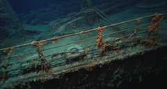 The corpse of the Titanic discovered by divers