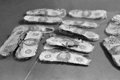 Money discovered years later from the D.B. Cooper skyjacking