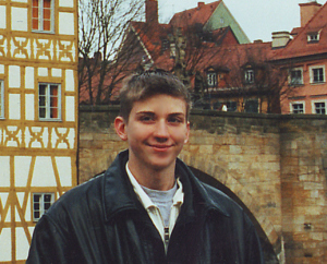 Kyle Brennan on a trip to Germany