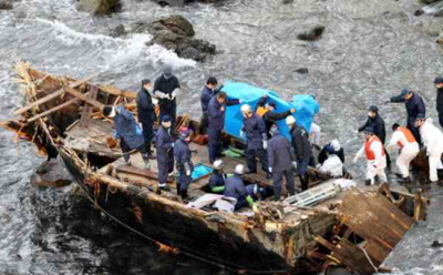 """Mysterious """"ghost ships"""" arrive on Japan's shores full of decomposing bodies and skeletons"""