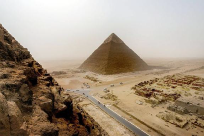 View from the top of the Great Pyramid