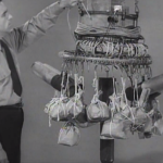 Navy man explaining the operation of a Japanese Fire Balloon in a training video