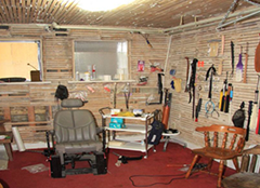Dungeon room constructed by one of the four men arrested by the FBI for human trafficking