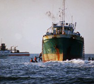 Golden Venture cargo ship used by Sister Ping in her human trafficking operation