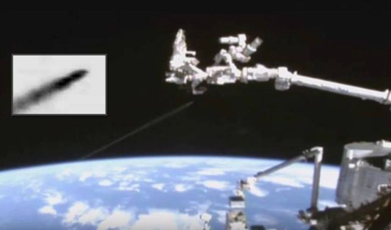 Space Station camera captures Fastwalker UFO speeding from Earth into deep space