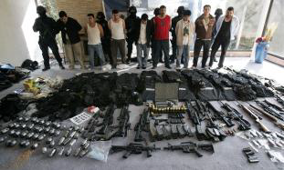 Weapons captured in drug cartel raid