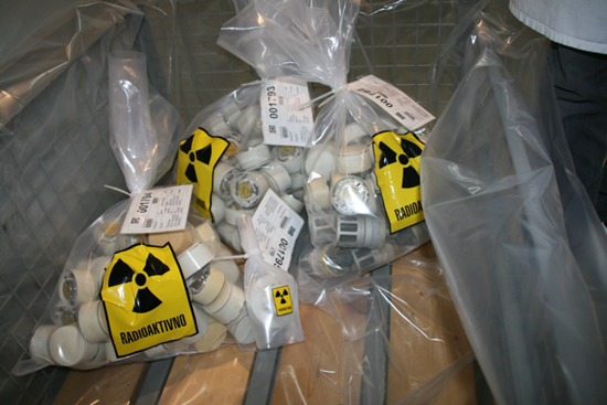 Radioactive materials in bags