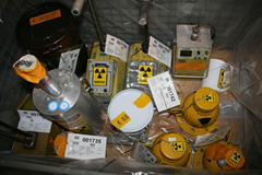 Radioactive materials inside storage unit