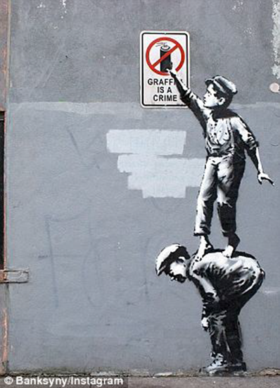 Graffiti is a crime Banksy art