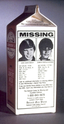 Johnny Gosch wa the Original missing Child on the Milk Carton