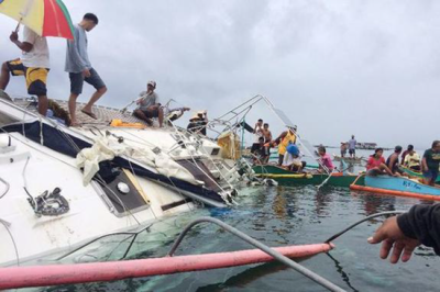 Manfred Fritz Bajorat boat found partially submerged in water off coast of Philippines