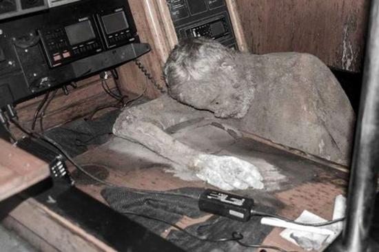 Mummified body of Manfred Fritz Bajorat found aboard his driftin yacht, the Sayo