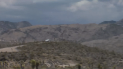 """White truck"" security team block the road leading toward the Area 51 fire"
