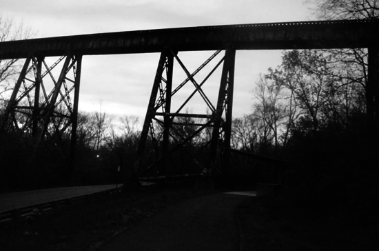 Pope Lick Bridge, site of the Pope Lick Monster near Louisville, Kentucky