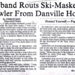Headline noting the ski-masked East Area Rapist in Danville