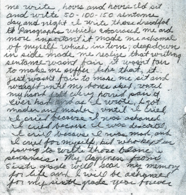 """Page two of the Golden State Killer """"homework assignment"""""""