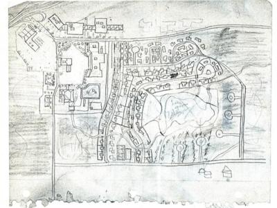 Front side of Golden State Killer map