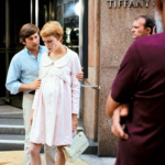 Roman Polanski and Mia Farrow during the filming of Rosemary's Baby
