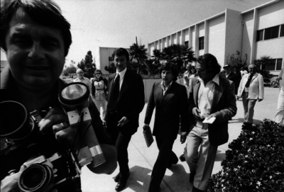 Roman Polanski leaves the Santa Monica court in 1977