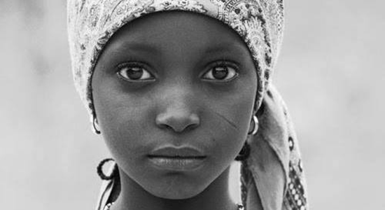 Face of African girl