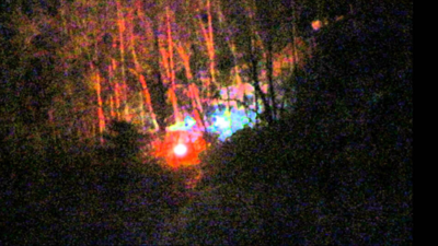 Close up crop of lights from video source