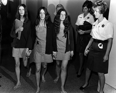 Manson women during trial