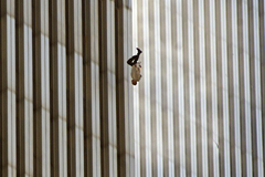 The Falling Man - iconic photo of 9/11 jumper