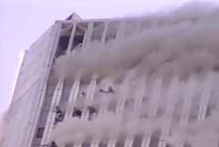 World Trade Center on fire