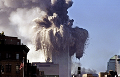 World Trade Center tower collapse