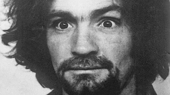 Charles Manson with crazy eyes