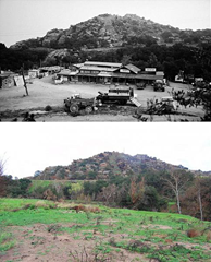 Spahn Ranch - then and now (the Ranch burned in 1970)