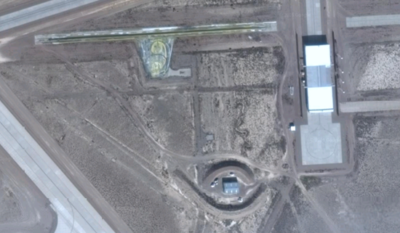 Aerial photo of Area 6 - the drone testing section of Area 51