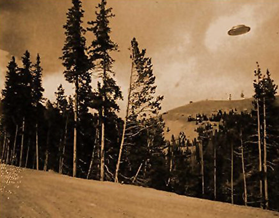 UFO over Cave Junction, Oregon taken by volunteer fireman in the late 1920's.