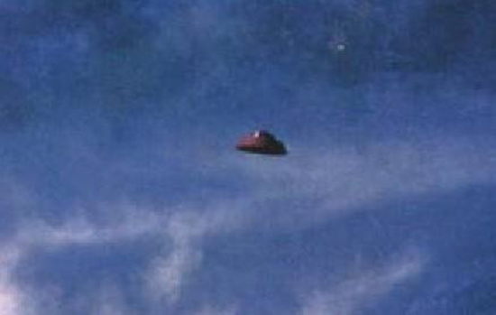 UFO over Provo, Utah taken by pilot of a twin-engine USAF C-47 Skytrain transport aircraft
