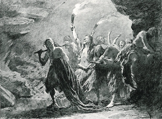 1896 drawing from book reporting the Sawney Bean murders