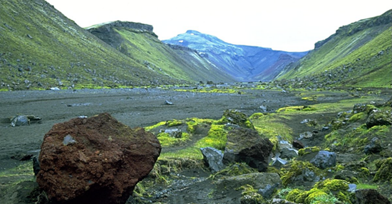 Eldgja Canyon in southern Iceland