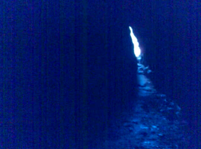 Sawney Bean cave entrance (as seen from inside the entrance)