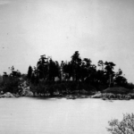 Early, rare photo of Deadman's Island