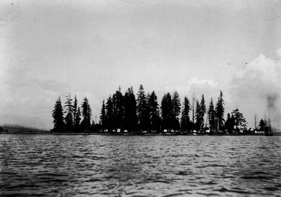 Early, rare photo of Deadman's Island in Vancouver, Canada