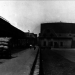 Undated photo shows the molasses tank before the Great Molasses Flood
