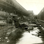 Damage from the Great Molasses Flood in Boston (1919)