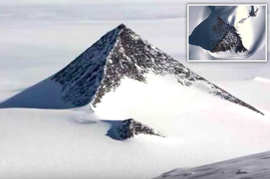 The melting ice caps in Antarctica have revealed something astounding – pyramids!