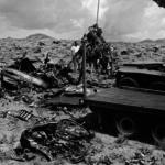 Military removing crash debris