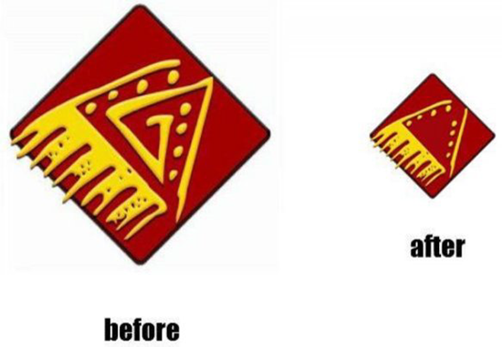 Besta Pizza logo before and after