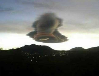 """Bizarre """"inverted-tornado"""" cloud appears in Mexican sky"""
