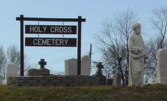 Holy Cross Cemetery in Baltimore, Maryland where Father Maskell allegedly hid condemning paperwork