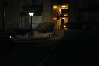 Sister Catherine's apartment (marked with arrow)