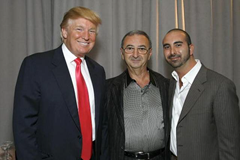 Tamir Sapir (middle) and his son Alex Sapir (right) at Trump SoHo launch